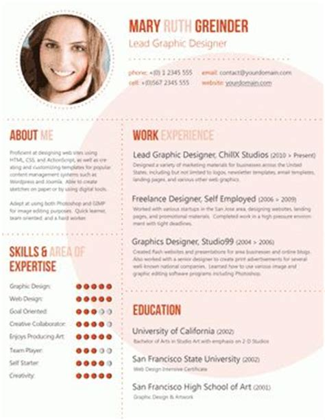Innovative Business Resumes by Best 25 Cv Picture Ideas On Cv Exles