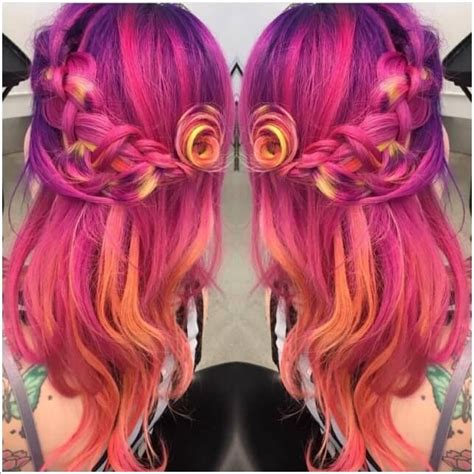 17 Best Images About Beautiful Unnatural Hair Colors On