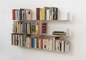 Etagere Livre Murale : tag re pour livre u 60 cm lot de 6 acier ~ Melissatoandfro.com Idées de Décoration