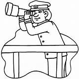 Telescope Coloring Watching Captain Printable Getcolorings sketch template