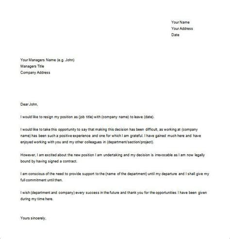 letter  resignation template word sanjonmotel