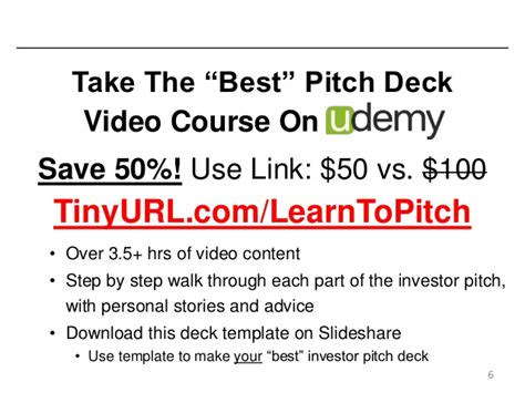 the best startup investor pitch deck how to present to