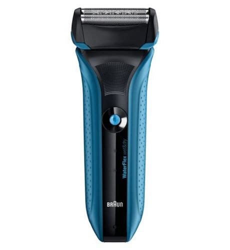 braun waterflex wet dry electric shaver shower grooming tools