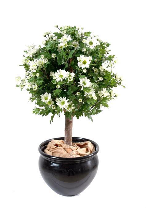 plante artificielle fleurie anth 233 mis boule en pot int 233 rieur h 90 cm vert blanc