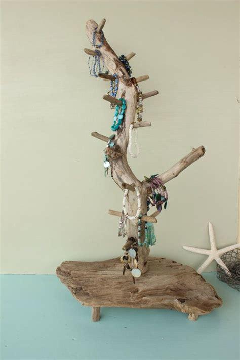 Rotating Driftwood Jewelry And Bracelet Display Jewelry