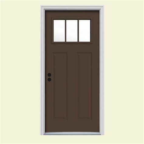 home depot doors exterior jeld wen 36 in x 80 in cordova 1 2 lite chocolate