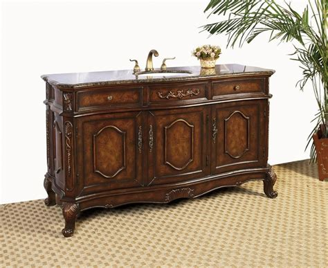 Inch Single Sink Bathroom Vanity With Chestnut Brown