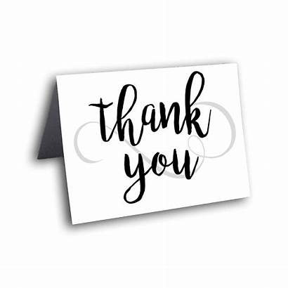 Thank Calligraphy Card Cards Dotandbowpaperie Silver