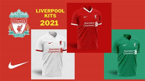 New Liverpool 2021 Kits Home, Away and Third | Mobile Game