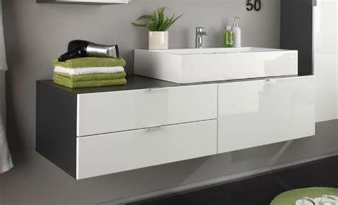 Ikea Badmöbel Grau by Badm 246 Bel Set Unterschrank Mit Waschbecken Wei 223 Hochglanz