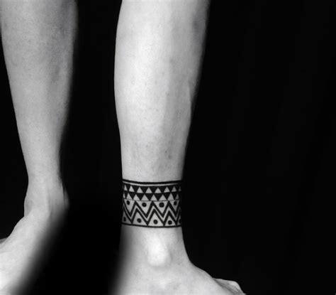 ankle band tattoos  men  leg design ideas