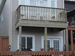 2nd floor balcony deck in cabbagetown toronto for How to build a second floor balcony