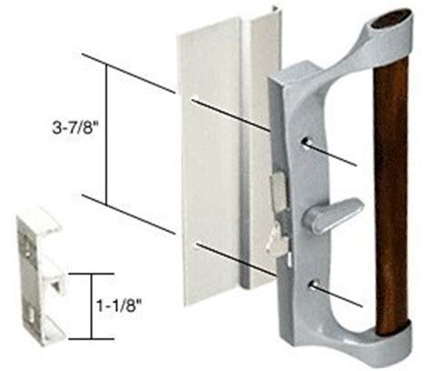 hook style surface mount sliding glass patio door handle