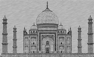 Taj Mahal Digital Pencil Sketch - Digital Sketches ...