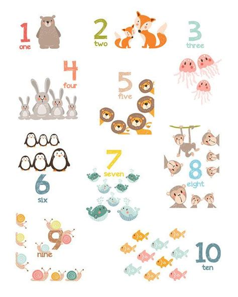 set   alphabet wall art alphabet animals animal numbers
