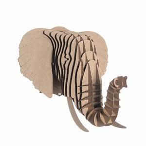 Trophée Animaux Carton : troph e l phant en carton moyen mod le marron fonc no l pinterest carton animaux en ~ Melissatoandfro.com Idées de Décoration