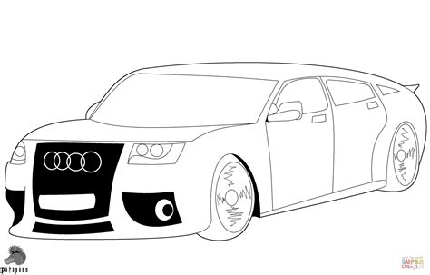 Cars Kleurplaat A4 by Audi Car Coloring Page Free Printable Coloring Pages