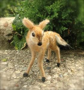 Claudia Marie's Needle Felted Deer Fawn, White Tailed ...