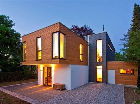 Moderne Häuser Aus Holz by Fassadengestaltung Traumh 228 User Fertighaus Holz Modern Zwei