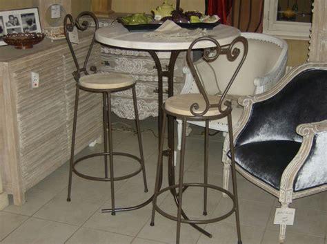 table de cuisine avec tabouret supérieur table de cuisine avec tabouret 3 table de bar fer forge et bois lertloy com