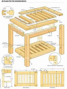 Shower Bench Plans • WoodArchivist