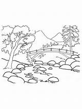 Mountains Coloring Pages Mountain Range Printable Nature Cartoon Results Template sketch template