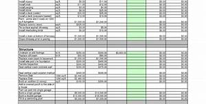 Sample Cost Estimate For Construction Residential Electrical Estimating Spreadsheet Spreadsheet
