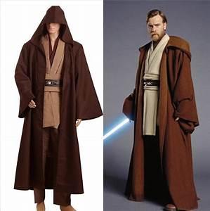 star wars obi wan ben kenobi jedi tunic movie halloween With obi wan robe