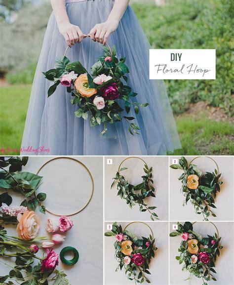 diy silk flower hoop bouquet afloralcom