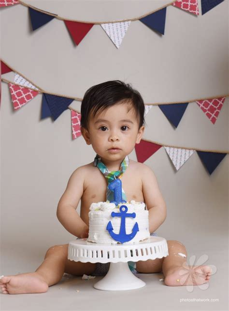 Idea For Baby Photo Shoot A Nautical Cake Smash Milton