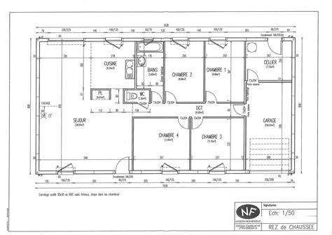 plan de maison plain pied 3 chambres gratuit great cool battement plan maison plans maison phenix plan
