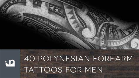 polynesian forearm tattoos  men youtube