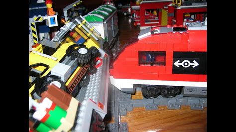 Lego Train Crash, With Scary End! ( Lego City 3677 & 7938