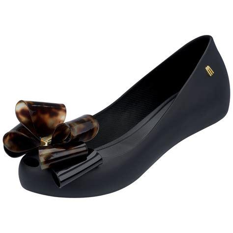 melissa ultragirl bow  shoe  black  tortoiseshell bow
