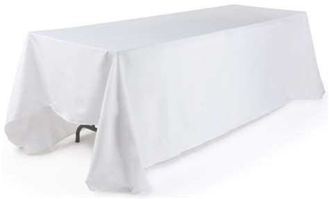 tablecloth for 8 foot rectangular table white rectangular tablecloth 132 table cover