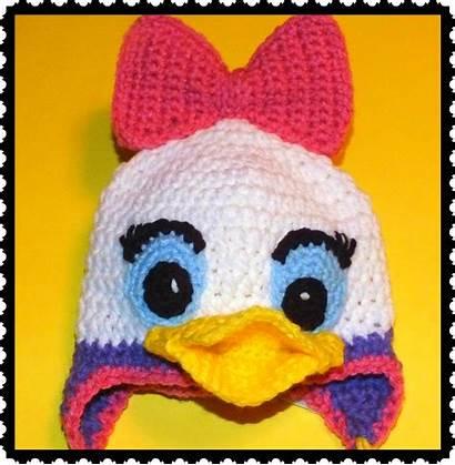 Duck Daisy Pattern Donald Crochet Eyes Hats