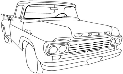 Classic Cars And Trucks Coloring Pages Classic Truck Coloring Car Vehicle Pictures Grig3 Org