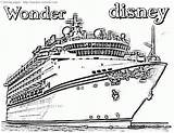 Cruise Disney Coloring Pages Ship Drawing Printable Timeless Miracle Getdrawings Pdf sketch template