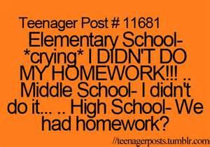 Funny Teenager Post About Homework