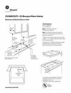 Ge Monogram Zeu769tcww Manuals