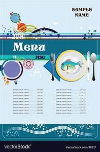 Fish restaurant menu Royalty Free Vector Image