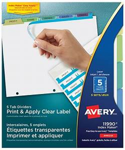 avery template 11447 - conventions meetings dividers products