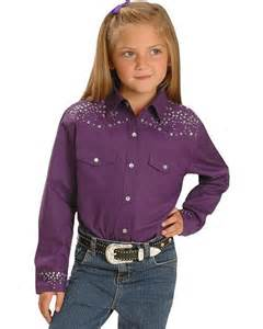 White Rhinestone Bathroom Accessories by Ely Walker Girls Purple Rhinestone Western Shirt 4 16