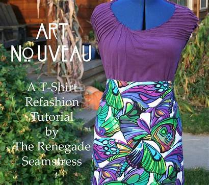 Refashion Shirt Tutorial Nouveau Inspired Seamstress Sewing