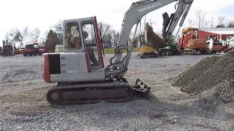 takeuchi tb mini excavator youtube