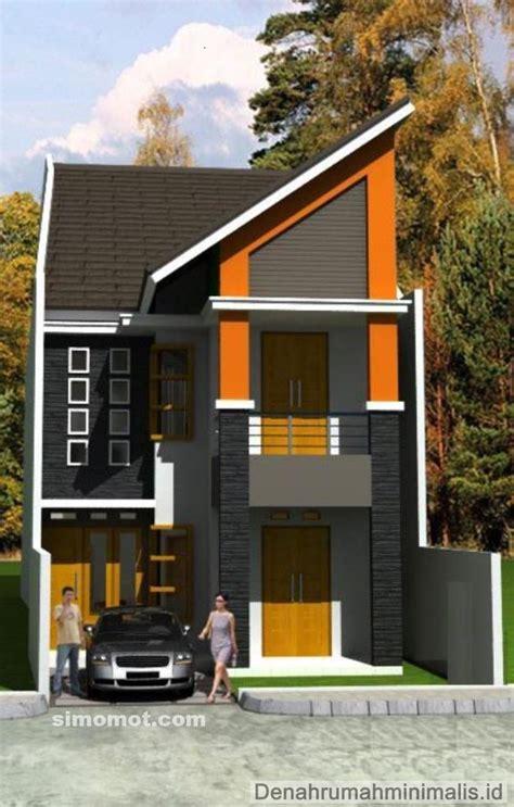 rumah minimalis modern  lantai   trend bangsaid