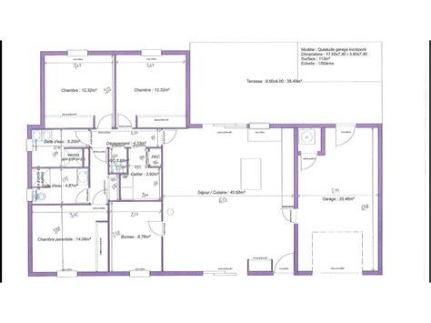 plan maison 3 chambres 1 bureau plan maison plain pied 3 chambres 1 bureau evtod