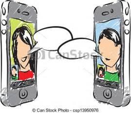 Phone Conversation Clip Art