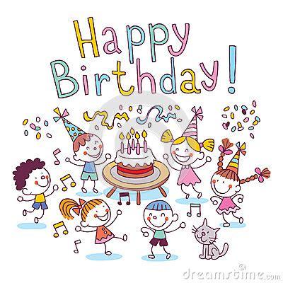 happy birthday kids stock vector image