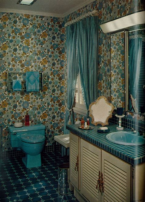 1968 vintage home bathroom remodeling blue floral bathroo